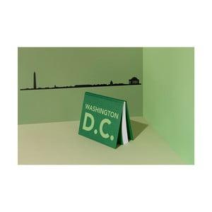 Černá nástěnná dekorace se siluetou města The Line Washington DC XL