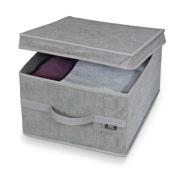 Cutie pentru depozitare Domopak Stone Large, 50x38cm, gri
