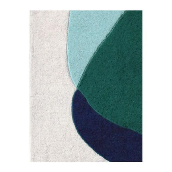 Covor din lână HARTÔ Jane, 180 x 220 cm, verde - gri