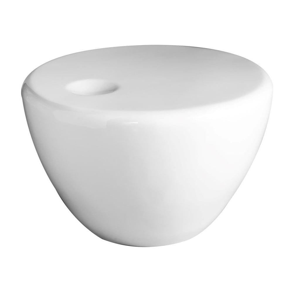 Bílý konferenční stolek Design Twist Tete