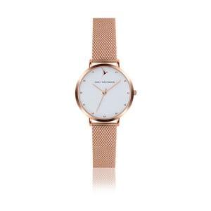 Dámské hodinky s páskem z nerezové oceli v růžovozlaté barvě Emily Westwood Birdie