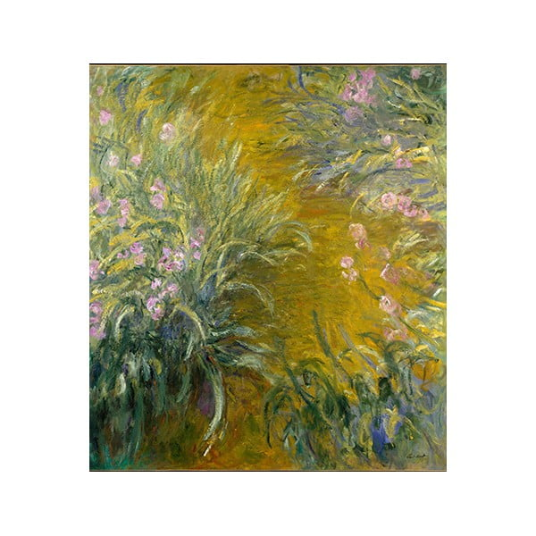 Obraz Claude Monet - The Path through the Irises, 80x70 cm
