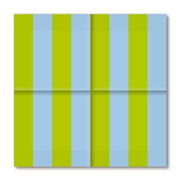 Papírové ubrousky Spring Stripes, 20 ks