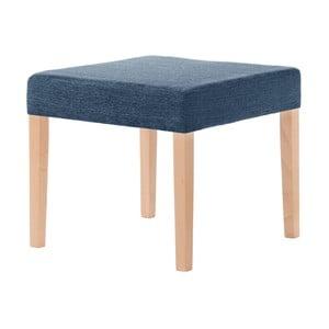 Scăunel Ted Lapidus Maison Pétale cu picioare maro, albastru denim