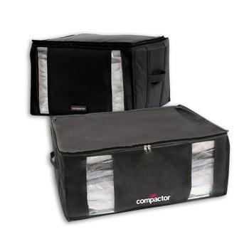 Set 2 cutii cu vid Compactor Black Edition XXL, 125 l, negru imagine