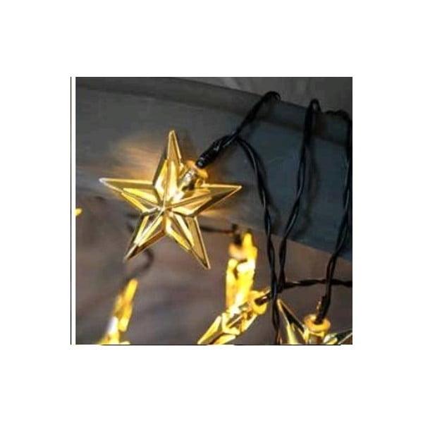Svítící LED řetěz Best Season Metal Stars Golden