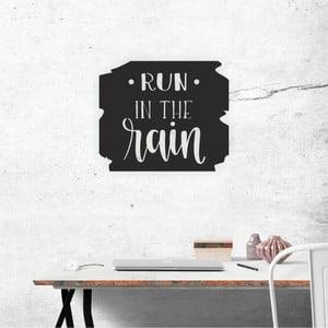 Černá nástěnná samolepicí dekorace North Carolina Scandinavian Home Decors Run Motto, 40 x 34 cm