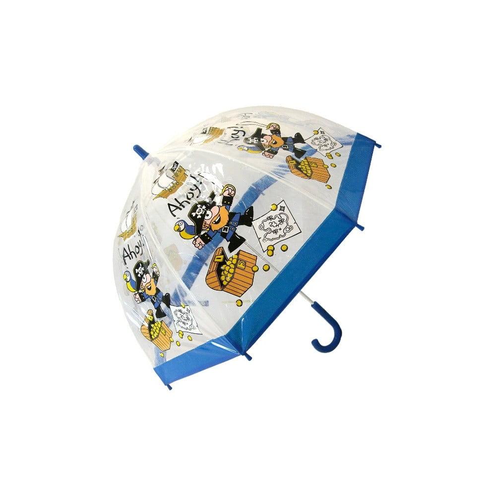 Dětský transparentní holový deštník se žlutými detaily Birdcage Trango, ⌀70cm