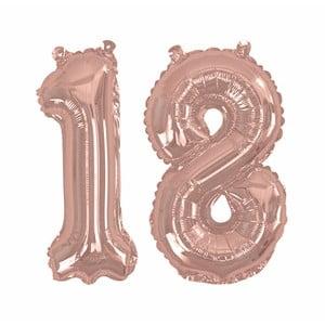 Balónek s číslem 18 Neviti Rose Gold