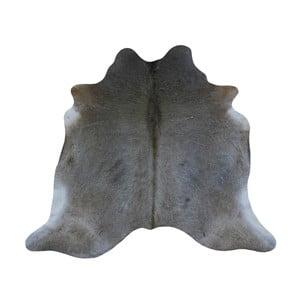 Covor din piele de vacă, 196 x 194 cm, gri