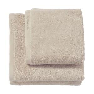 Béžový ručník z egyptské bavlny Aquanova London, 55 x 100cm