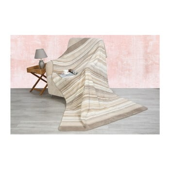 Pătură din bumbac Santas Line Bej, 200x150cm