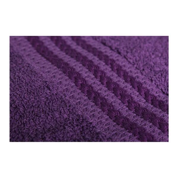 Sada 4 fialových bavlněných osušek Rainbow, 70x140cm