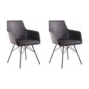 Sada 2 černých jídelních židlí Støraa Joey