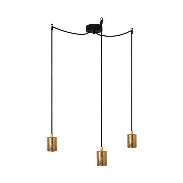 Tři závěsné kabely Bulb Attack, zlatá/černá/černá