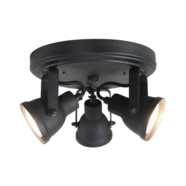Čierne nástenné svietidlo LABEL51 Spot Max Tres