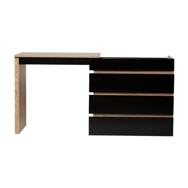 Černý variabilní pracovní stůl/komoda Marckeric Elbir