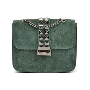 Zelená kožená kabelka Mangotti Lumido