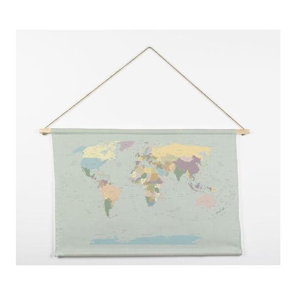 Tapisérie z mikrovlákna Really Nice Things Worldmap, 60x90cm