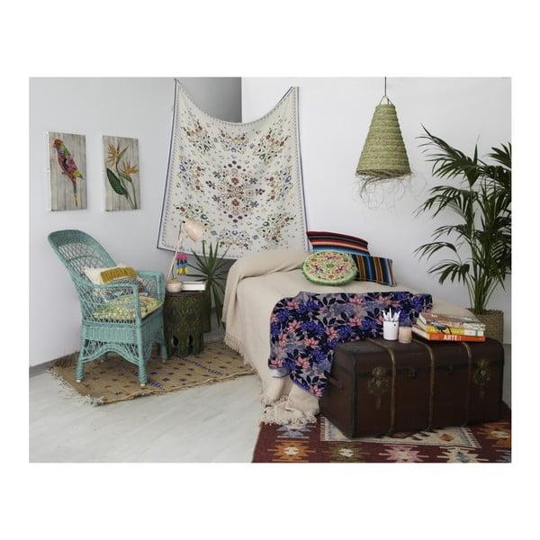Nástěnná tapisérie Madre Selva Flowers, 140 x 140 cm