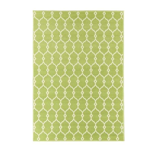 Zielony wytrzymały dywan odpowiedni na zewnątrz Floorita Trellis, 133x190 cm