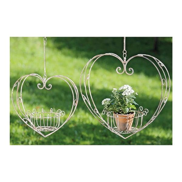 Sada 2 závěsných květináčů Heart