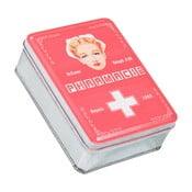 Červená kovová lékárnička