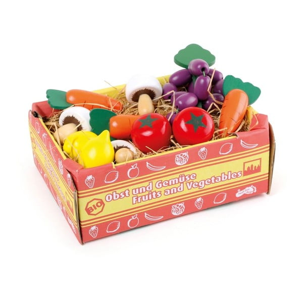 Cutie cu legume de jucărie Legler