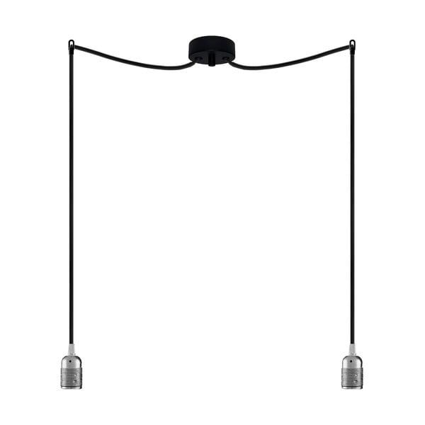 Dva závěsné kabely Uno, stříbrná/černá