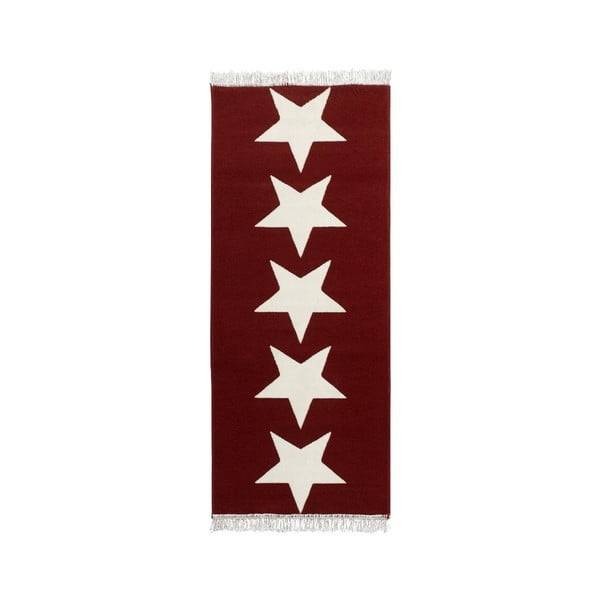 Červený koberec Hanse Home Stars, 80x200cm