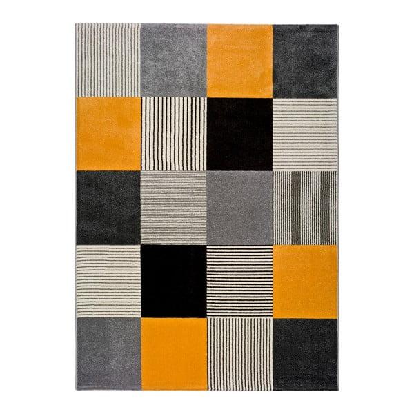 Covor Universal Gladys Lento, 80 x 150 cm, portocaliu-gri