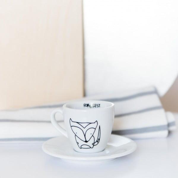 Hrnek na espresso s podšálkem Fox, 100 ml