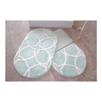 Set 3 covorașe de baie Confetti Bathmats, verde deschis