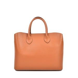 Koňakově hnědá kožená kabelka Isabella Rhea Manuel