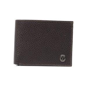 Hnědá pánská kožená peněženka Trussardi Marinero, 12,5 x 9,5 cm