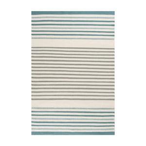 Ručně tkaný vlněný koberec Linie Design Story Aqua, 140x200cm