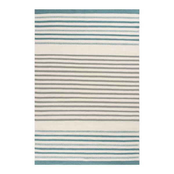 Ručně tkaný vlněný koberec Linie Design Story Aqua, 200x300cm