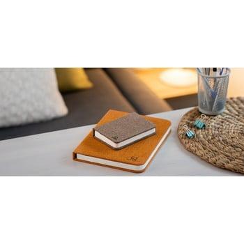 Veioză de birou cu LED Ginko Booklight Mini, formă de carte, maro închis