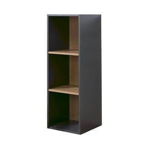Černo-hnědá knihovna se 3 policemi JUNIOR Provence Cube