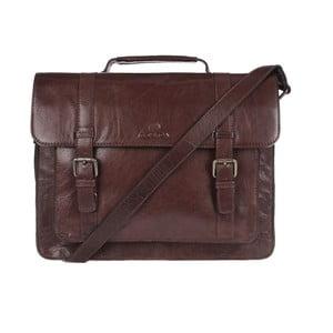 Pánská kožená taška Ealing Brown Satchel