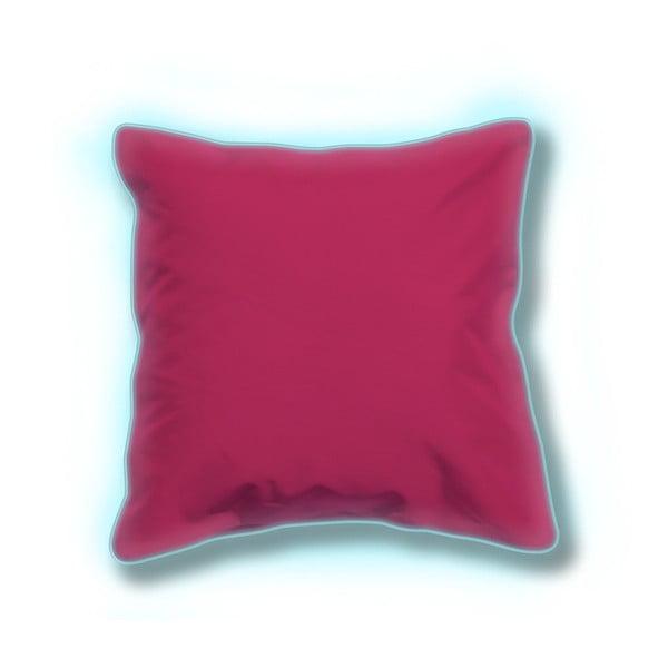 Zestaw 2 różowych świecących poduszek odpowiednich na zewnątrz Sunvibes, 80x80 cm