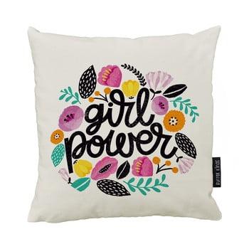 Pernă din bumbac Butter King Girl Power, 50 x 50 cm poza