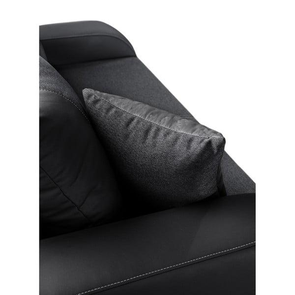 Canapea cu 2 locuri INTERIEUR DE FAMILLE PARIS Destin, negru