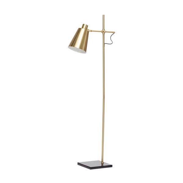 Voľne stojacia lampa v mosadznej farbe Hübsch Karmo