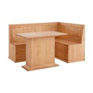Set lavice a jídelního stolu z masivního borovicového dřeva Støraa Silas