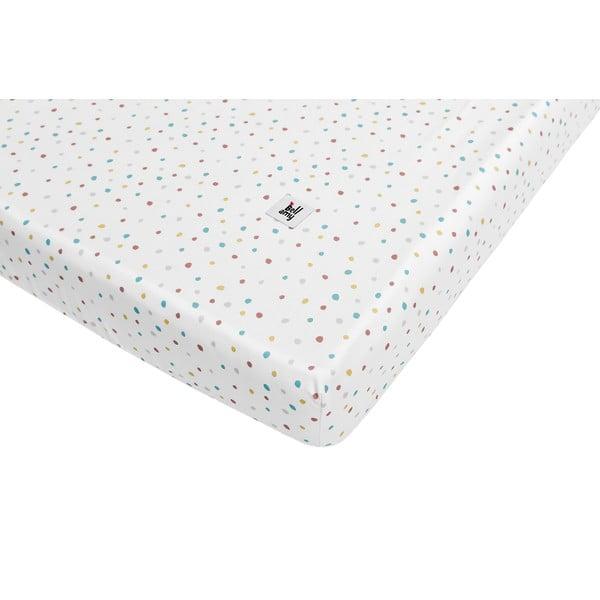 Dziecięce bawełniane prześcieradło BELLAMY Dots, 90x200 cm