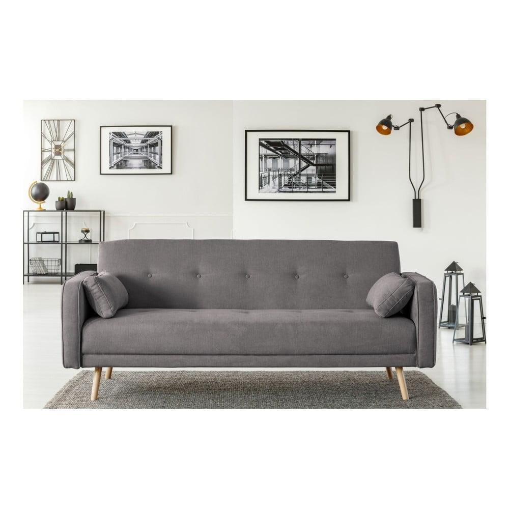 Tmavě šedá rozkládací pohovka Cosmopolitan Design Stuttgart, 212 cm