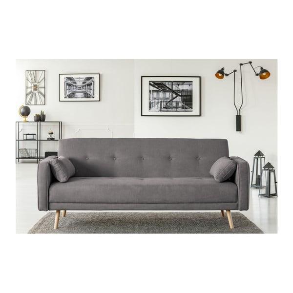Tmavě šedá třímístná rozkládací pohovka Cosmopolitan Design Stuttgart