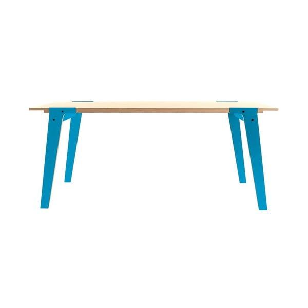 Modrý jídelní/pracovní stůl rform Switch, deska 200x90 cm