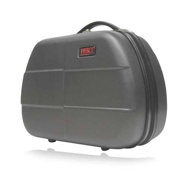 Tmavě šedé malé příruční zavazadlo Hero Glykerios,